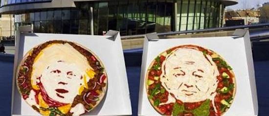 Mayoral Pizza Promotion: Eat Boris Johnson's Face