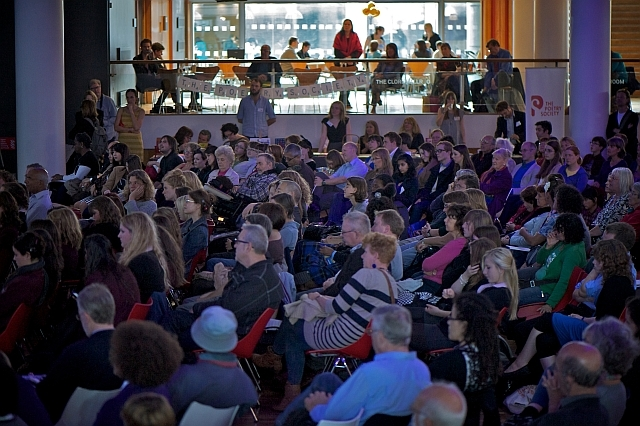The crowd at National Poetry Day Live / photo by Hayley Madden