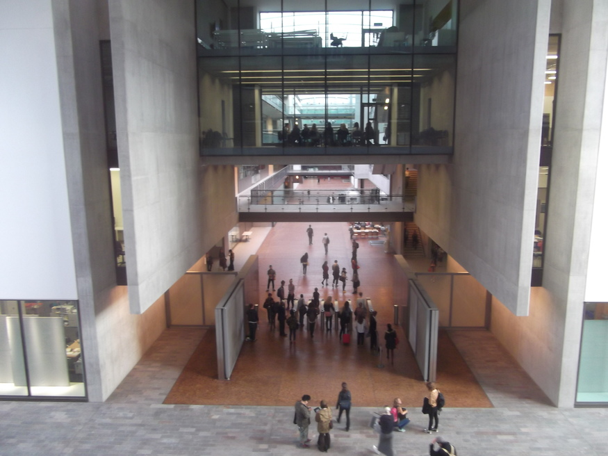 The central atrium, as photographed from the library.