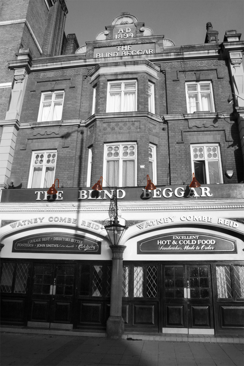 Blind Begger - Pub where George Cornell was shot and killed by Ronnie Kray during the height of the Kray's rule of gangster London