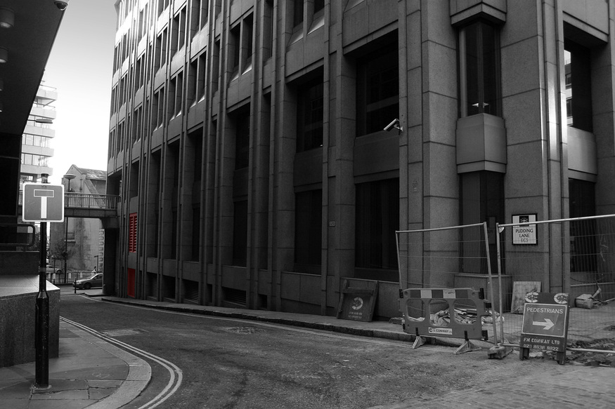 Pudding Lane - where the Great Fire of London started