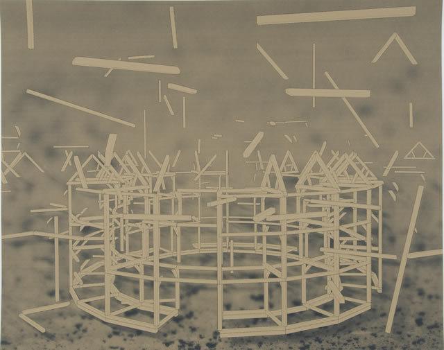 George Eksts - Untitled, Screenprint, 2011. © George Eksts/Royal College of Art