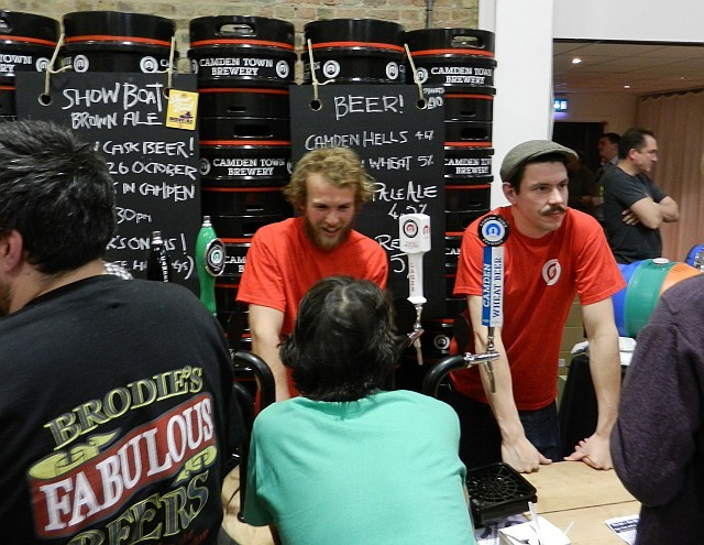 The guys from Camden Town Brewery seemed to be having fun.
