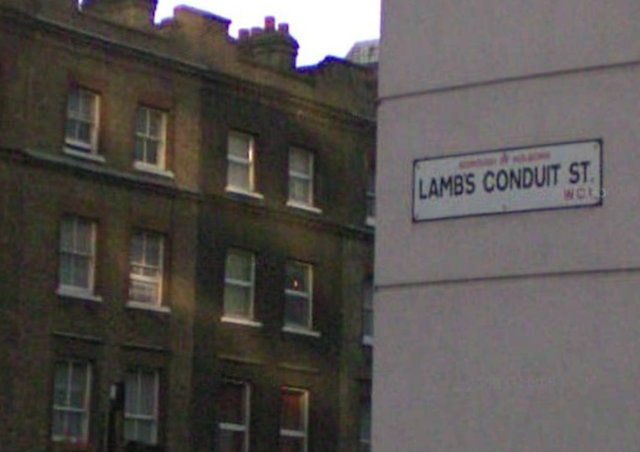 Lambs Conduit Street in Bloomsbury.
