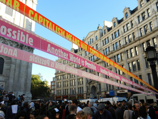Slogan ribbons / photo by London Dave