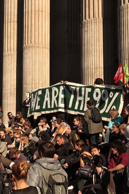 """We are the 99%"" - slogan that came from the original Occupy Wall Street protests / photo by Zefrog"