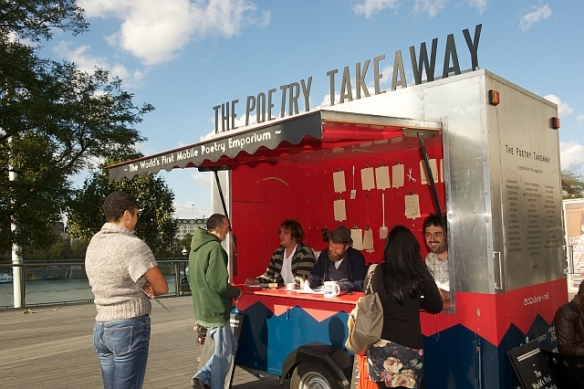 The Poetry Takeaway van / photo by Hayley Madden