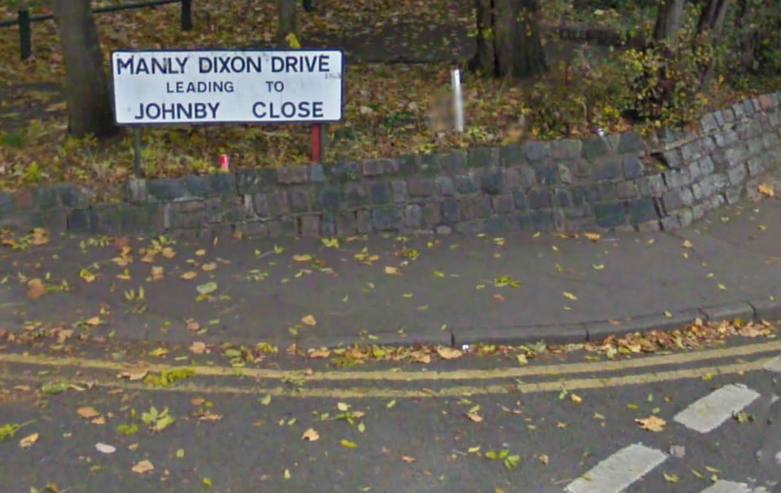 Manly Dixon Drive in Enfield. Smirk.
