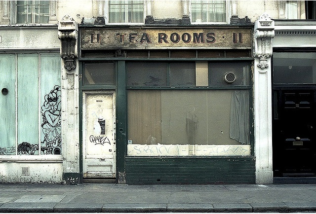 The much photographed former tea rooms on Museum Street by D I C K S D A I L Y