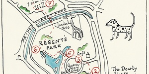 Hand-Drawn Maps Of London: 101 Dalmatians Walk
