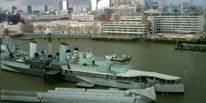 In Pictures: Gangway Collapses On HMS Belfast