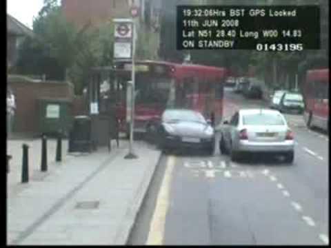 Bus Dents Porsche, Kills Bus Stop
