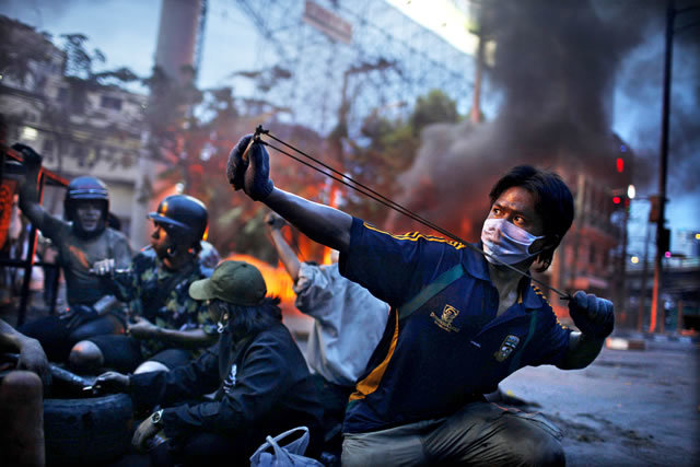 2nd Prize Spot News Stories: Corentin Fohlen, France, Fedephoto. Anti-government riots, Bangkok, Thailand, May