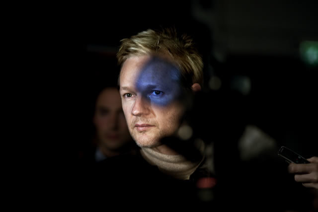 2nd Prize People In The News Single: Seamus Murphy, Ireland, VII Photo Agency. Julian Assange, founder of WikiLeaks, London, 30 September