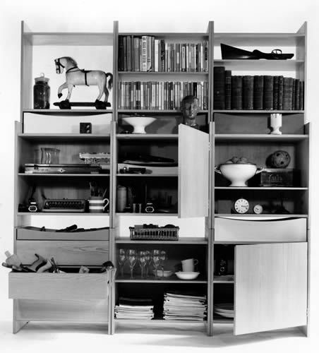 Book Shelving Unit, by Terence Conran, 1963. Photo by John Maltby RIBA Library Photographic Collection