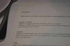 Paul A Young – Almeida Seven Course Seasonal Chocolate Menu