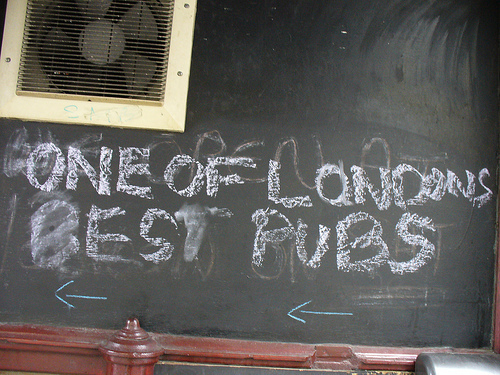 Drink-ography:  One Of London's Best Pubs