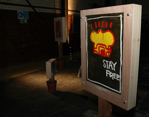 Stay Free with Street Artist Sickboy (until 10th December)