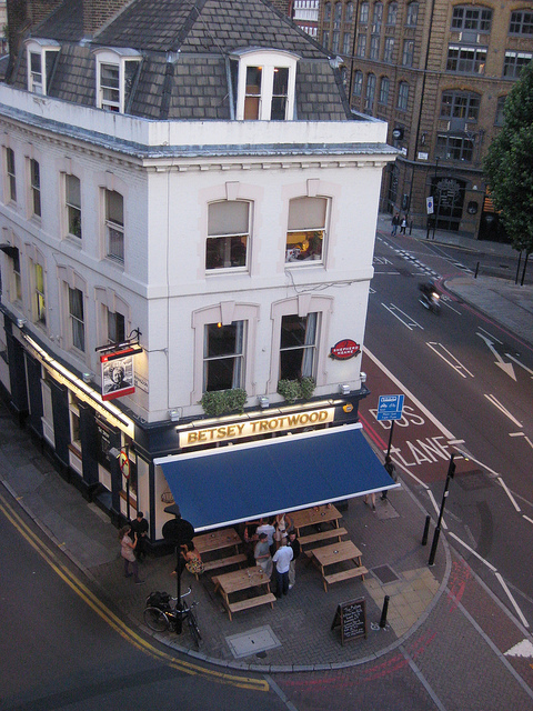 A much better view of the Betsey Trotwood than we could have captured on the night / photo by M@