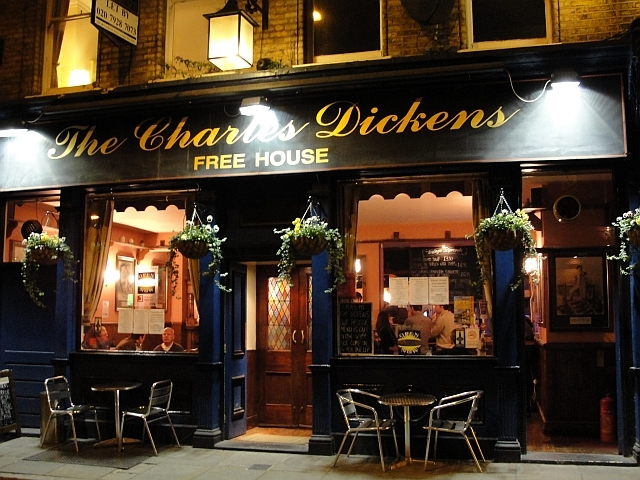 Dickens's namesake, on Union Street / photo by Rachel H
