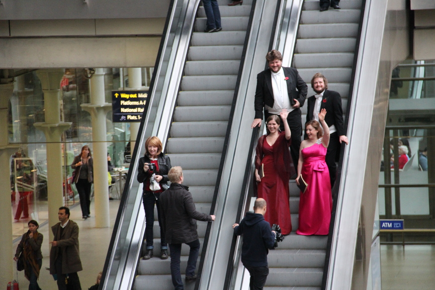 Soloists arriving in style