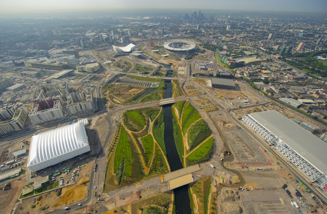 Construction of London 2012 Olympic site by Jason Hawkes