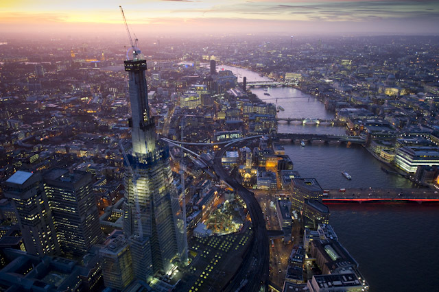 Aerial view of The Shard by Jason Hawkes