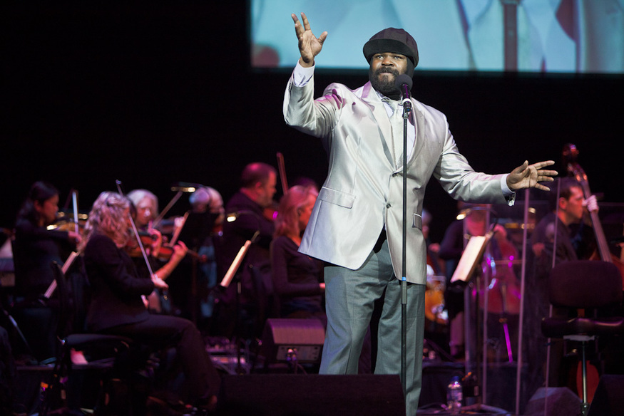 Again from the opening night, old-style jazz singer Gregory Porter.