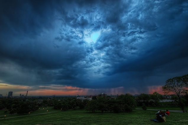 Sunset thunderstorm by Conor MacNeill