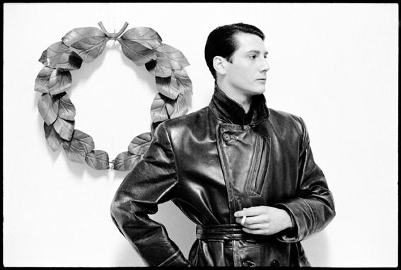 Tony Hadley (Spandau Ballet) at Warren St squat 1981 copyright Graham Smith