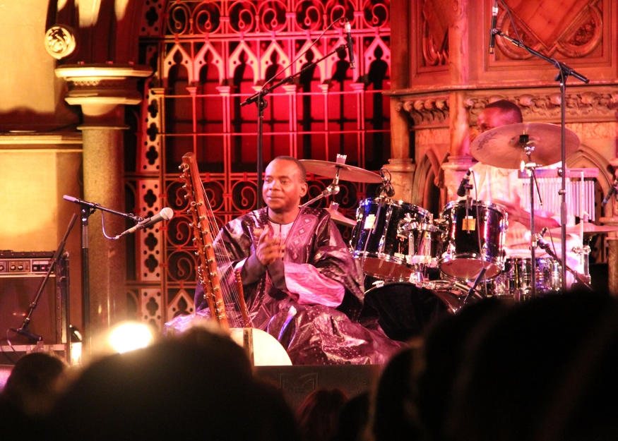 Malian kora (West African harp) virtuoso Toumani Diabaté wowed Islington's Union Chapel on the opening night with a sublime, contemplative set.