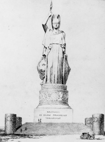 A 75m statue of Britannia on Greenwich Hill, proposed in the late 1700s.