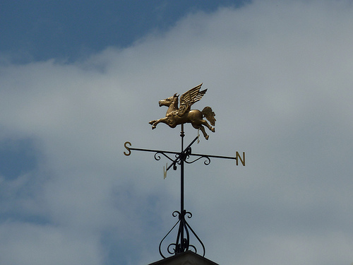 Weather vane by Victorian London