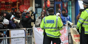 Congolese Protesters Make Noise Outside PR Firm Offices
