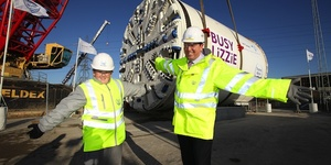 Huge Boring Machine Lowered Into Place For Lee Tunnel