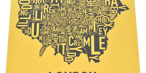 Santa's Lap: Typographic Maps Of London