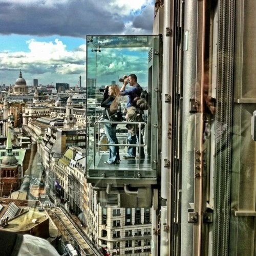 Looking through the glass elevator by Keith Houghton