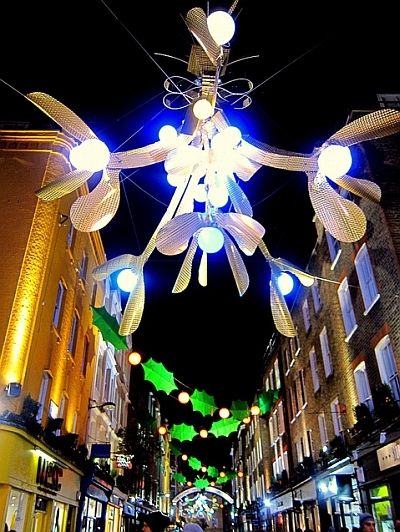 Attack of the Giant Mistletoe on Carnaby Street / photo by Bex.Walton