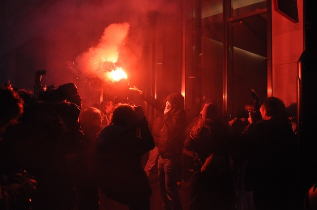 Protestors Storm 'Fat Cat' HQ Near Piccadilly