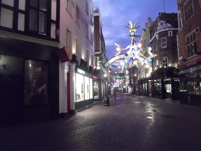 Carnaby Street, not really swinging.