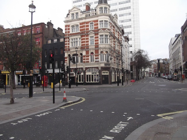 St Martin's Lane, sans people.