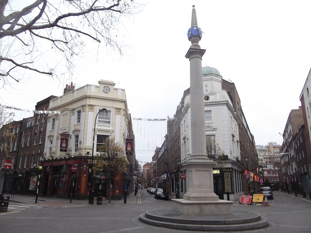 Seven Dials, with more streets than people.