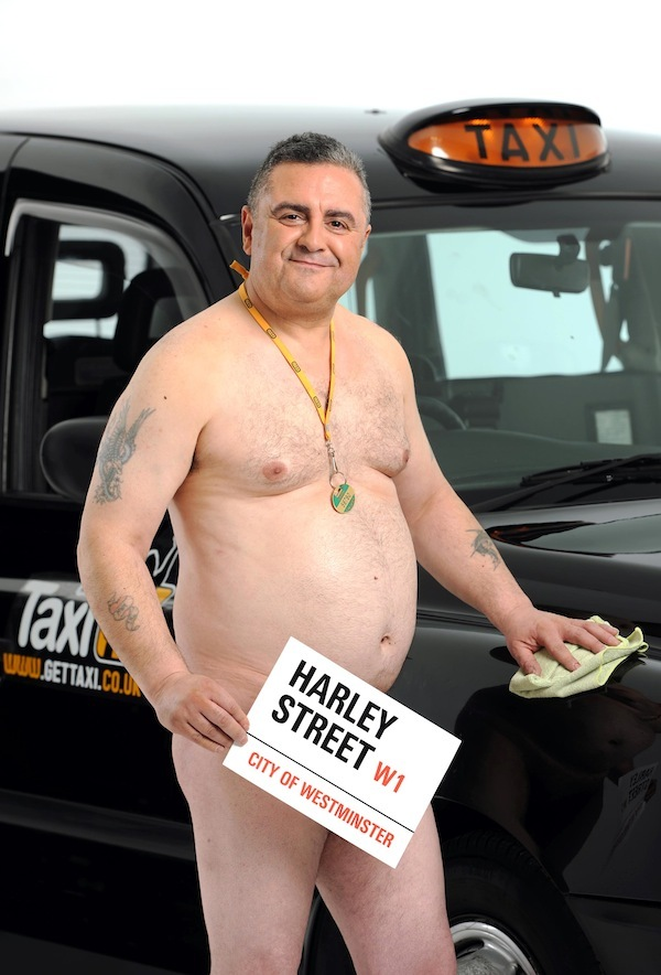 Get Taxi 2012 nude calendar in support of the Suzy Lamplugh Trust - MAY - Photo shows Salih Kasap