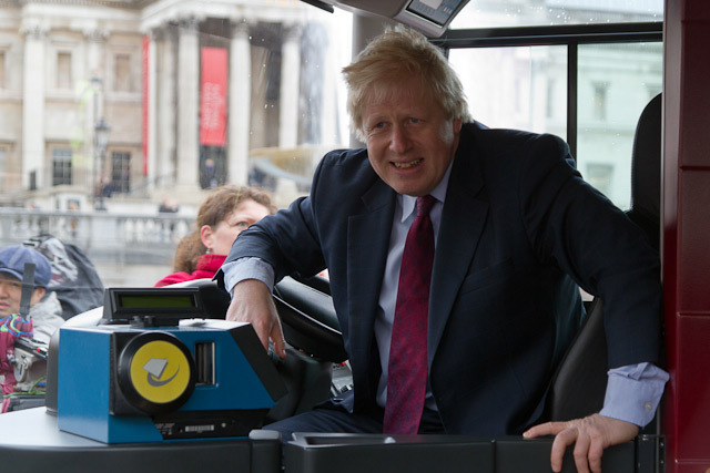 Would you want this man driving your bus?