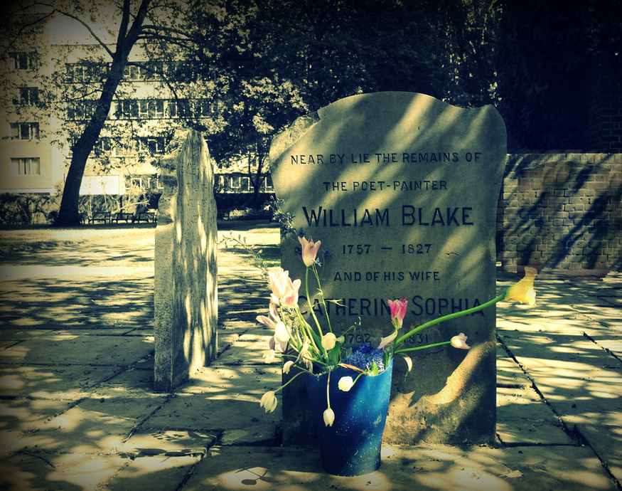 Bunhill Fields at the heart of the city - a quiet resting place for William Blake