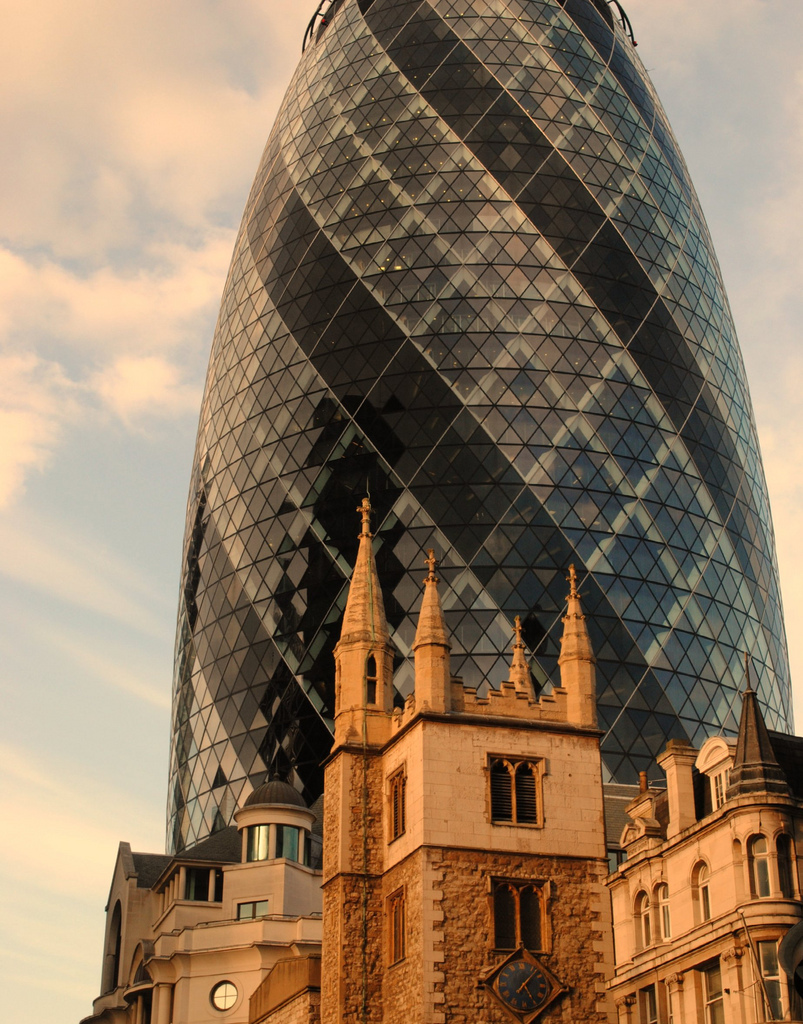 Medieval meets the space age in the City of London.