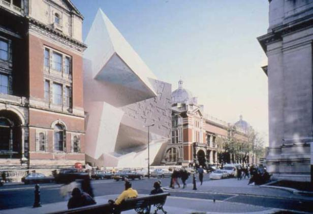 Daniel Libeskind's 'Spiral' design for the Victorian & Albert Museum, 1996