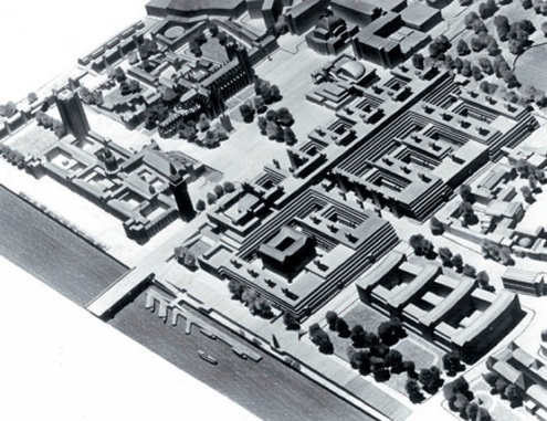 Plan by Leslie Martin from the early 1960s to knock down almost every building in Whitehall and replace them with new offices.
