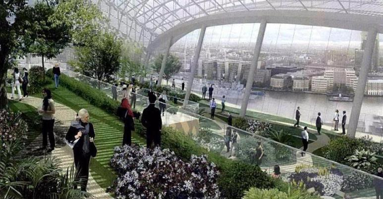 An artist's impression of the sky garden.