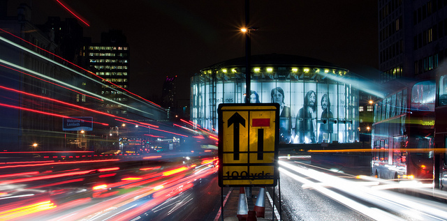 Waterloo Light Trails by Sean Batten